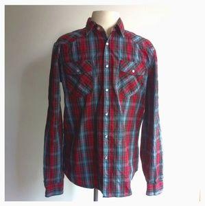 Heritage 1981 Men's Size M Multicolour Plaid Shirt